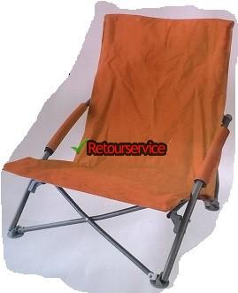 Oranje strandstoel