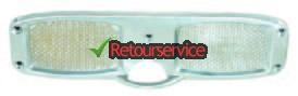 Aluminium spiegelbeschermer 10 x 31 cm