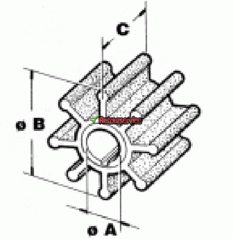 Yamaha buitenboordmotor impeller