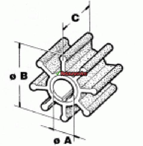 Mercury / Mariner buitenboordmotor impeller