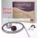 Steerflex stuurkabel set voor alle type buitenboordmotoren van 20 tot 250 pk kies uw maat
