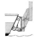 Beugels voor buitenboordmotorsteun met negatieve spiegel